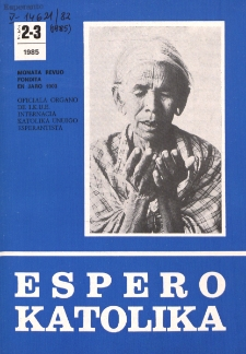 Espero Katolika.Jarkolekto 82, No 2/3=763/764 (1985)