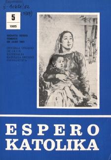 Espero Katolika.Jarkolekto 82, No 5=766 (1985)