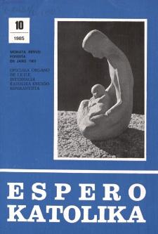 Espero Katolika.Jarkolekto 82, No 10=771 (1985)
