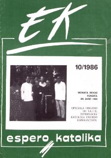 Espero Katolika.Jarkolekto 83, No 10=773 (1986)