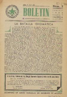 Boletín de la Federación Esperantista Española. Anno 5, n. 2 (1953)