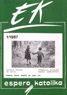 Espero Katolika.Jarkolekto 84, No 1=786 (1987)