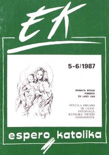 Espero Katolika.Jarkolekto 84, No 5/6=790/791 (1987)