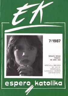Espero Katolika.Jarkolekto 84, No 7=792 (1987)