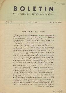 Boletín de la Federación Esperantista Española. Anno 6, n. 2 (1954)