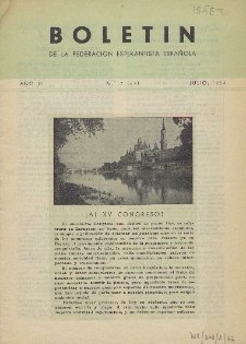 Boletín de la Federación Esperantista Española. Anno 6, n. 7 (1954)