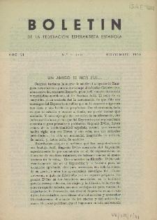Boletín de la Federación Esperantista Española. Anno 6, n. 11 (1954)