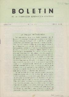 Boletín de la Federación Esperantista Española. Anno 7, n. 4 (1955)