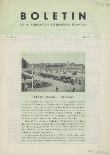 Boletín de la Federación Esperantista Española. Anno 7, n. 5 (1955)