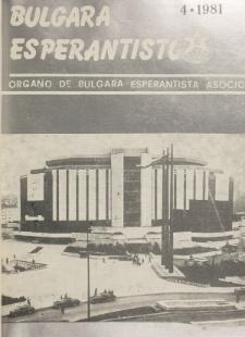 Bulgara Esperantisto. Jaro 50, n. 4 (1981)