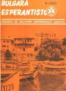 Bulgara Esperantisto. Jaro 50, n. 6 (1981)