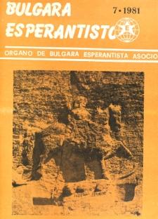 Bulgara Esperantisto. Jaro 50, n. 7 (1981)