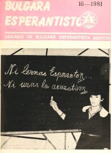 Bulgara Esperantisto. Jaro 50, n. 10 (1981)