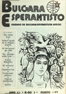 Bulgara Esperantisto. Jaro 51, n. 3 (1982)