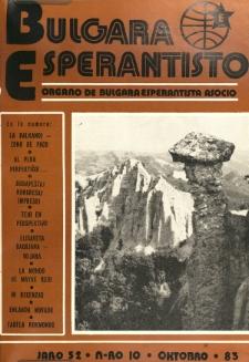 Bulgara Esperantisto. Jaro 52, n. 10 (1983)