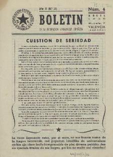 Boletín de la Federación Esperantista Española. Anno 2, n. 4 (1950)