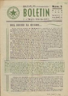 Boletín de la Federación Esperantista Española. Anno 3, n. 5 (1951)