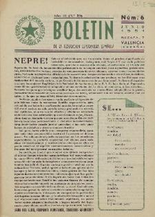 Boletín de la Federación Esperantista Española. Anno 3, n. 6 (1951)