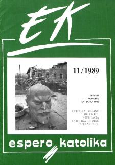 Espero Katolika.Jarkolekto 86, No 11=820 (1989)