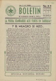 Boletín de la Federación Esperantista Española. Anno 3, n. 8/9 (1951)