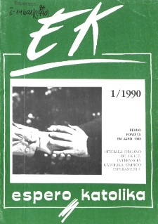Espero Katolika.Jarkolekto 87, No 1=822 (1990)