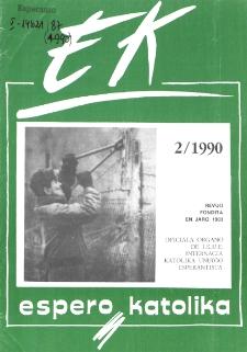 Espero Katolika.Jarkolekto 87, No 2=823 (1990)