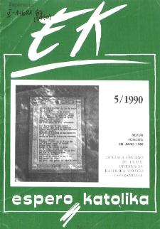 Espero Katolika.Jarkolekto 87, No 5=826 (1990)