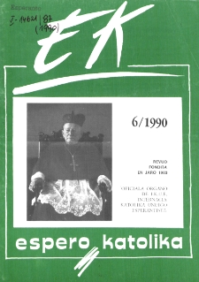 Espero Katolika.Jarkolekto 87, No 6=827 (1990)