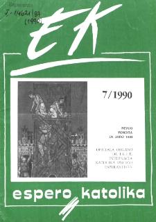 Espero Katolika.Jarkolekto 87, No 7=828 (1990)