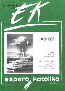 Espero Katolika.Jarkolekto 87, No 8/9=829/830 (1990)