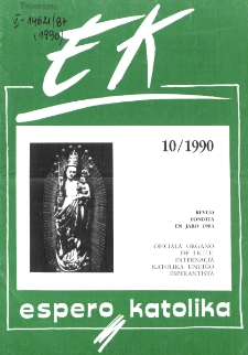 Espero Katolika.Jarkolekto 87, No 10=831 (1990)