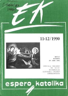 Espero Katolika.Jarkolekto 87, No 11/12=832/833 (1990)