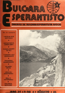 Bulgara Esperantisto.Jaro 54, n. 8 (1985)