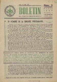 Boletín de la Federación Esperantista Española. Anno 4, n. 3 (1952)