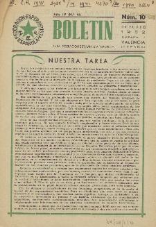 Boletín de la Federación Esperantista Española. Anno 4, n. 10 (1952)