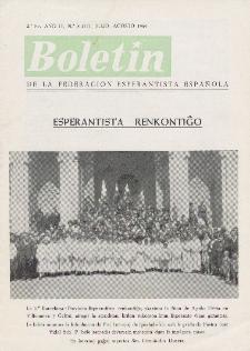 Boletín de la Federación Esperantista Española. Ep. 2, A. 2, n. 8 (1964)