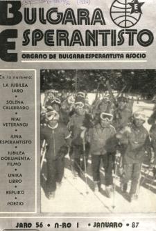 Bulgara Esperantisto. Jaro 56, n. 1 (1987)