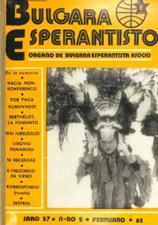 Bulgara Esperantisto.Jaro 57, n. 2 (1988)
