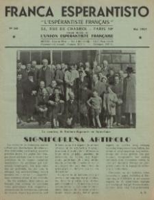 Franca Esperantisto.No 165 (1957)