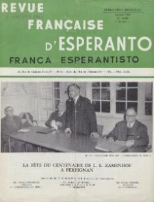 Franca Esperantisto.An. 28, No 187 (1960)