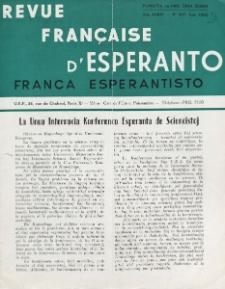 Franca Esperantisto.Jaro 30a, No 207 (1962)