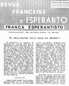 Franca Esperantisto.Jaro 30a, No 210 (1962)