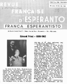 Franca Esperantisto.Jaro 30a, No 212 (1962)