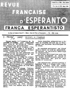 Franca Esperantisto.Jaro 31a, No 218 (1963)