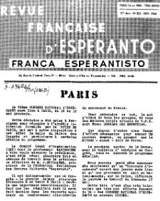 Franca Esperantisto.Jaro 31a, No 222 (1963)