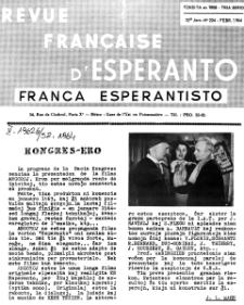 Franca Esperantisto.Jaro 32a, No 224 (1964)
