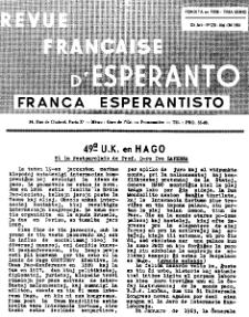 Franca Esperantisto.Jaro 32a, No 228 (1964)