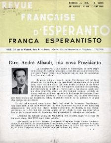 Franca Esperantisto.Jaro 34a, No 245 (1967)
