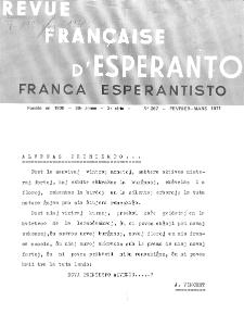 Franca Esperantisto.An. 39, No 267 (1971)