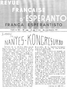 Franca Esperantisto.An. 39, No 269 (1971)